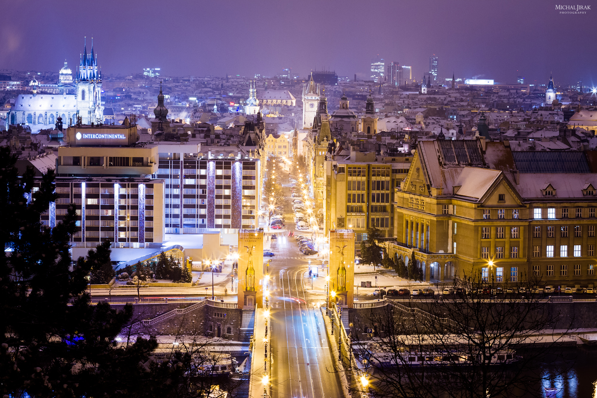 """Michal Jirák: """"Pohled na Pařížskou ulici od metronomu - bylo mínus 10."""""""