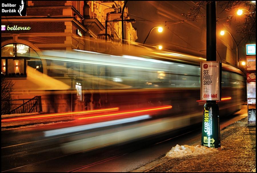 """Dalibor Durčák: """"Tramvaje a dopravní prostředky jsou vděčná témata. Tady tramvaj, která odjela..."""""""