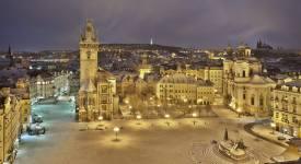 NÁDHERA! A takhle to v Praze vypadá, když je sníh…