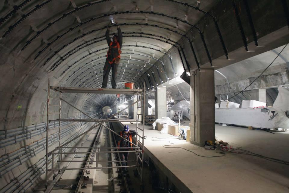 Stanice Veleslavín - stav červen 2014 - Foto: Metrostav
