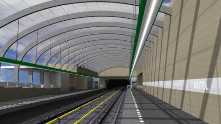 Vizualizace podoby stanice Motol