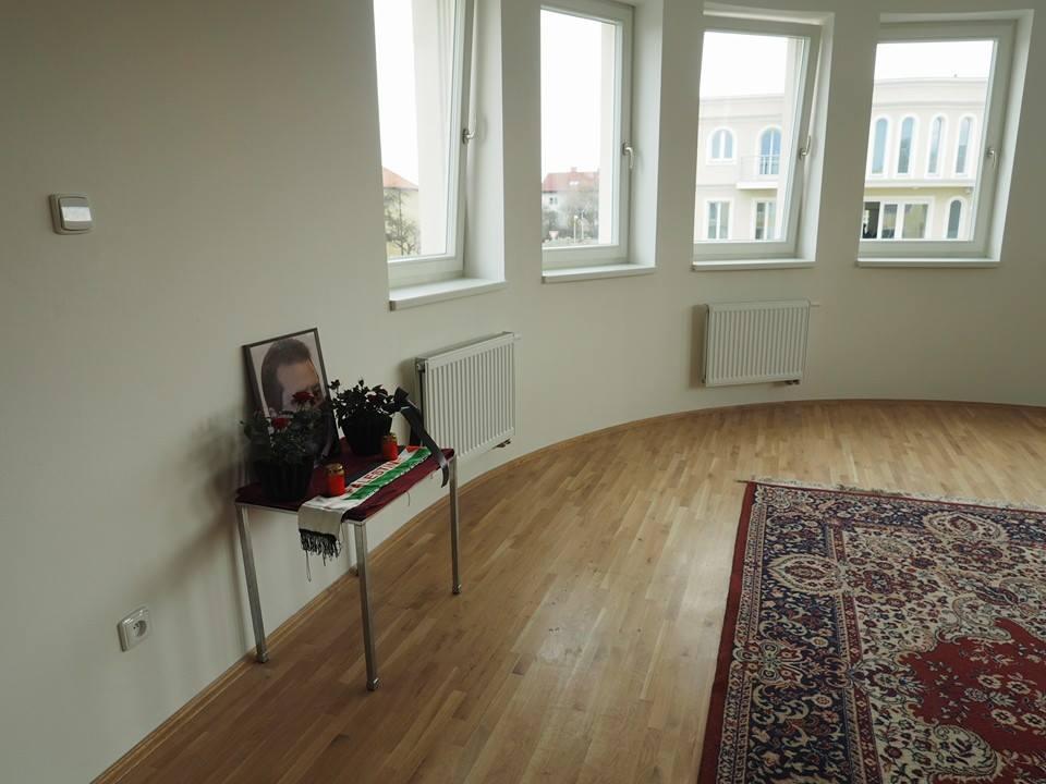 Místo, kde se u trezoru smrtelně zranil palestinský diplomat.  Residence v pražském Suchdole. 15.II.2014. - Foto: Eugen Kukla