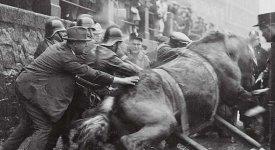 Historie pražských hasičů: Jak se zachraňuje kůň z ledové Vltavy