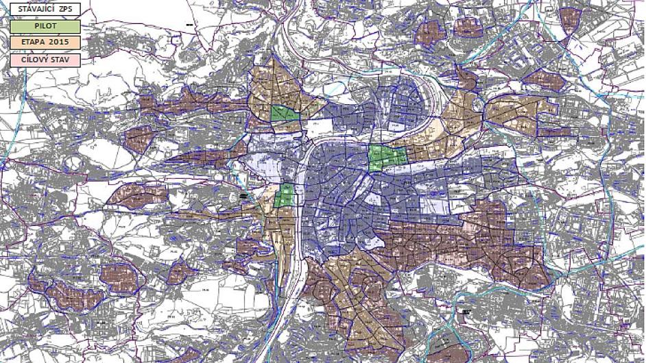 Výhled na příštích 5 let - Mapa: Technická správa komunikací