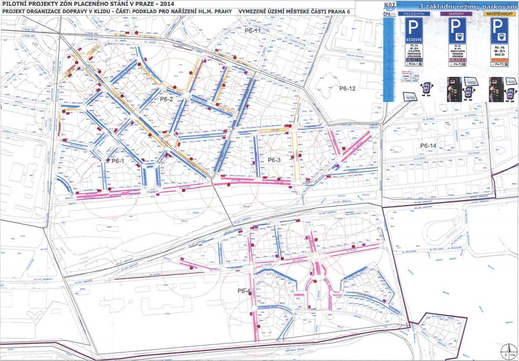 Takhle budou vypadat zony na Praze 6 - Mapa: Technická správa komunikací