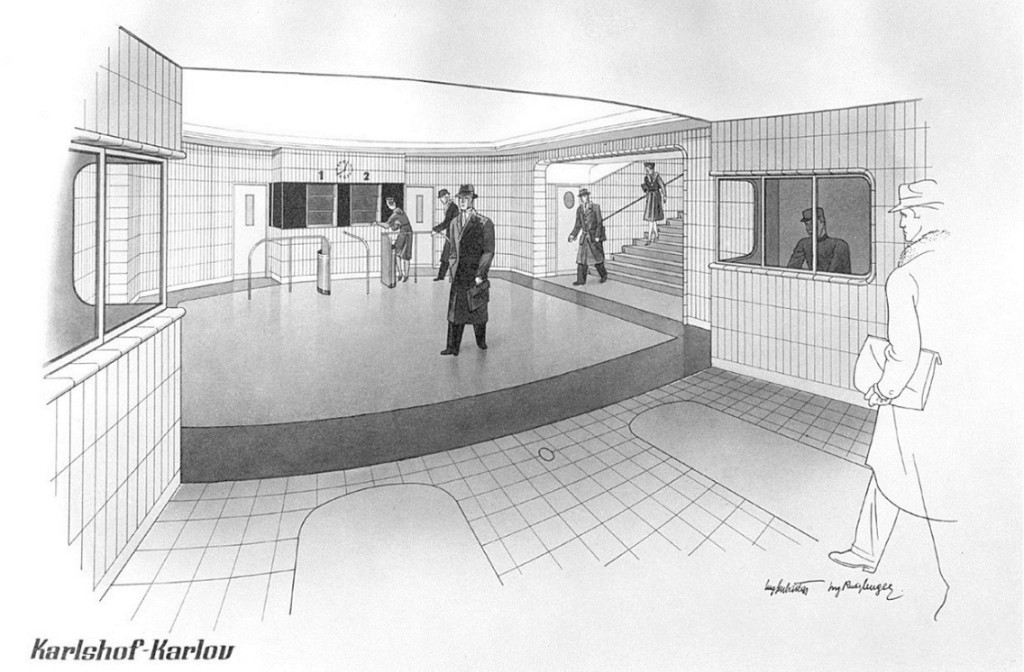 Stanice metra Karlov - Kresba: Archiv MPP