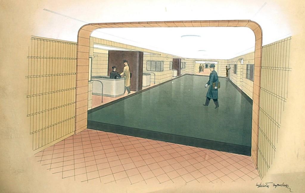 Stanice metra Můstek - Kresba: Archiv MPP