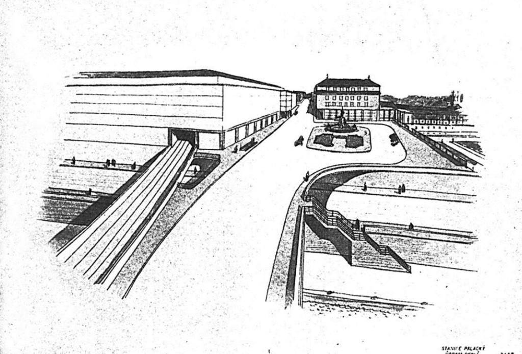 Venkovní úprava stanice Palacký