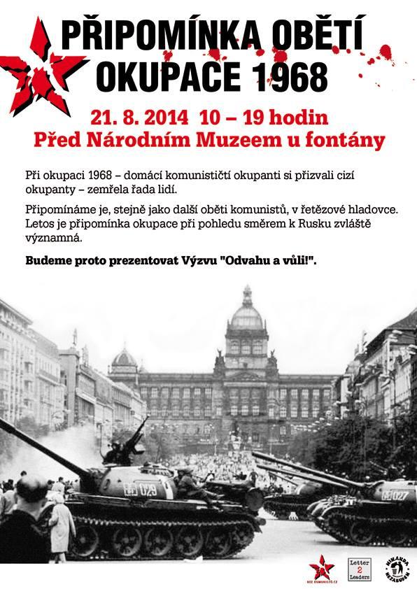 Připomínka obětí okupace 1968
