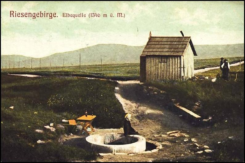 Pramen Labe v roce 1917 - Foto: www.fotohistorie.cz
