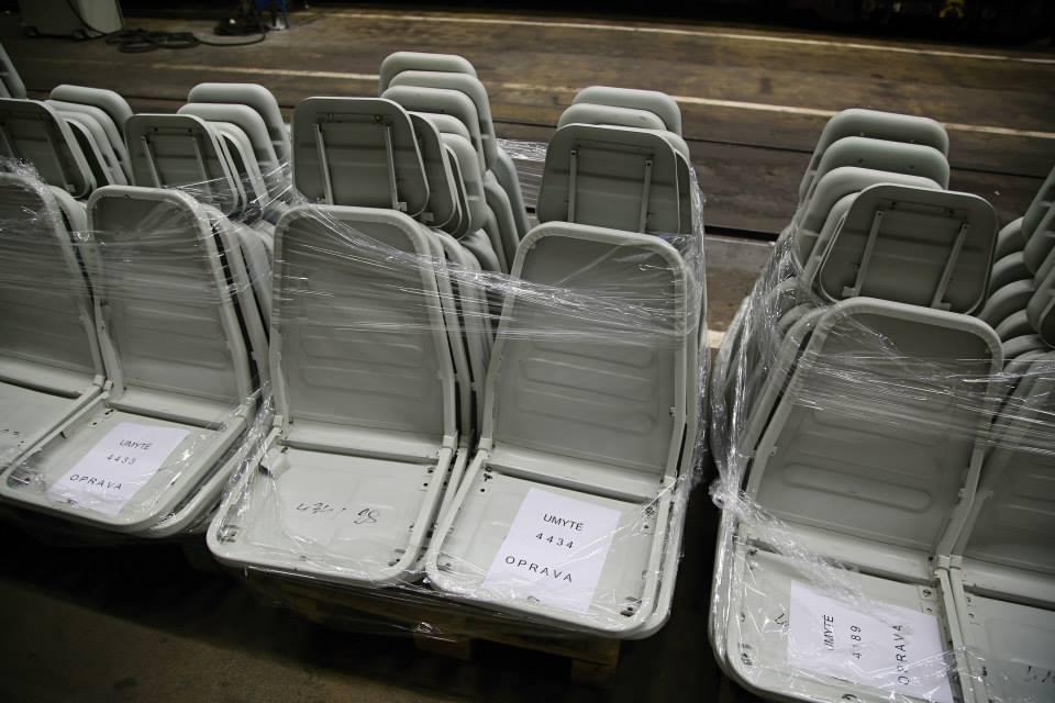 Sklad sedaček pro vozi M1 v depu Kačerov - Foto: Štěpán Rusňák