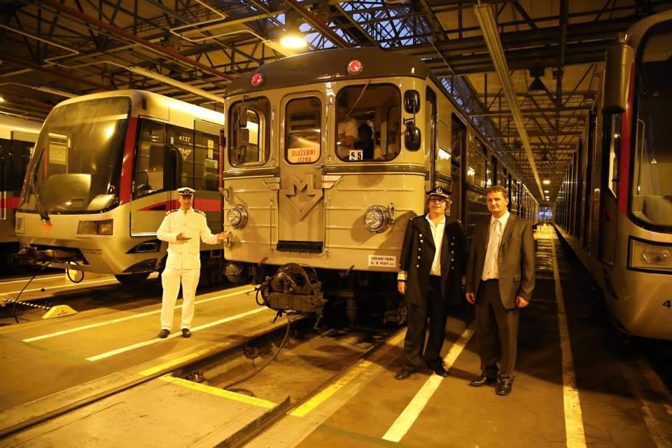 Souprava Ečs (81-709) je nejstarší typ sovětských vozů metra vyráběných pro pražské metro, kde byly provozovány v letech 1974–1997.  - Foto: Štěpán Rusňák