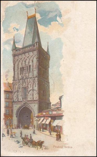 Prašná brána v roce 1900