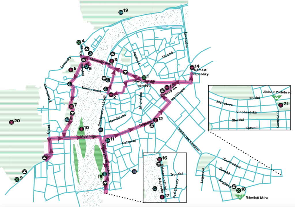 Mapa trasy Signal festivalu 2015 zdroj: SIGNAL FESTIVAL
