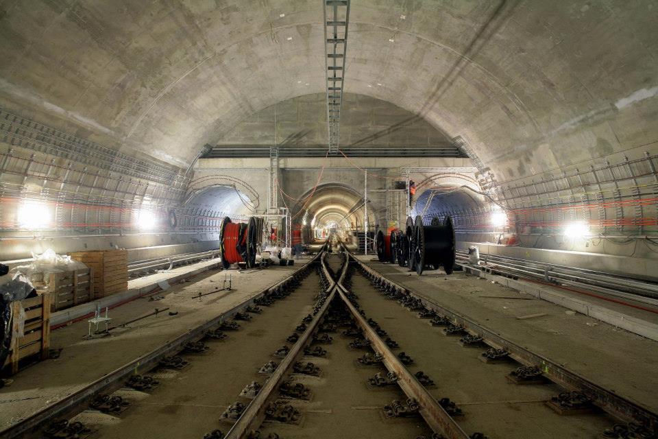 Obratové koleje, stanice metra Petřiny – stav červen 2014 – Foto: Metrostav