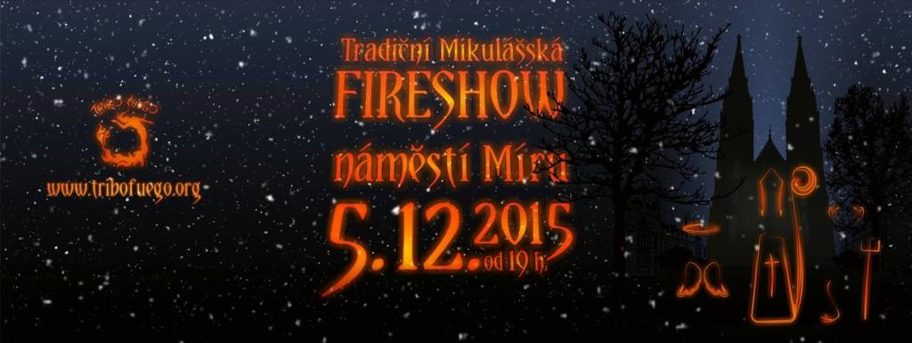 Tradiční mikulášská fireshow