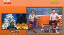 Pozoruhodný televizní přenos. Na 1. svátek vánoční Kyjev vstával s Prahou