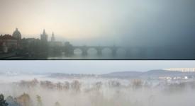 Když se sejdou mlha, východ slunce a Praha k světelnému mariáši…