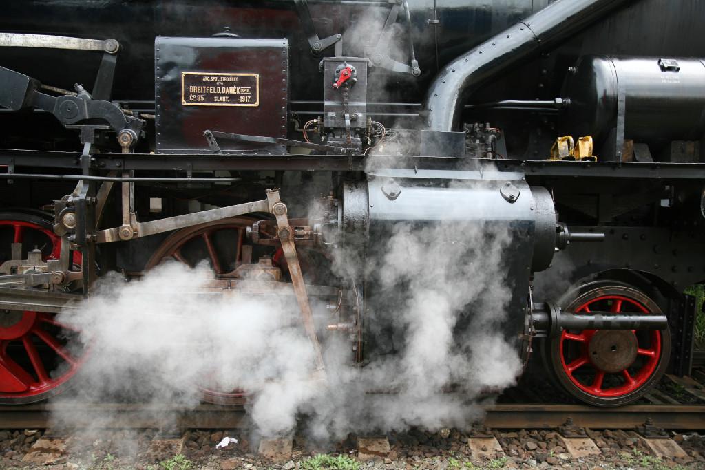 Parní lokomotiva - zdroj: České dráhy, a. s.