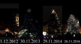 VELKÉ SROVNÁNÍ! Vánoční stromky na Staromáku od roku 2007 po dnešek