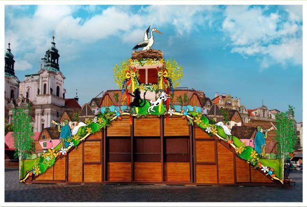 Velikonoční trhy na Staroměstském a Václavském náměstí vítají jaro s kocourem Mikešem - Zdroj: www.trhypraha.cz
