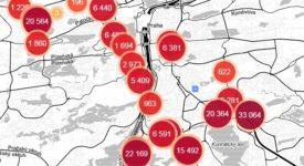 Mapa všech míst, kde policie v Praze měří rychlost. Podívejte se, kde si dát pozor