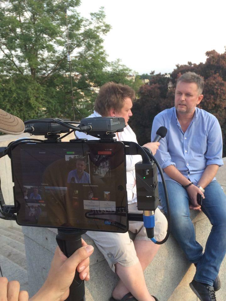 Natáčení rozhovoru s fotografem Davidem Šedivým - Foto: Marie Tabačíková