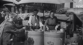 NOSTALGIE. Unikátní záběry Prahy z let čtyřicátých. Lampář i žena nesoucí prádlo k řece