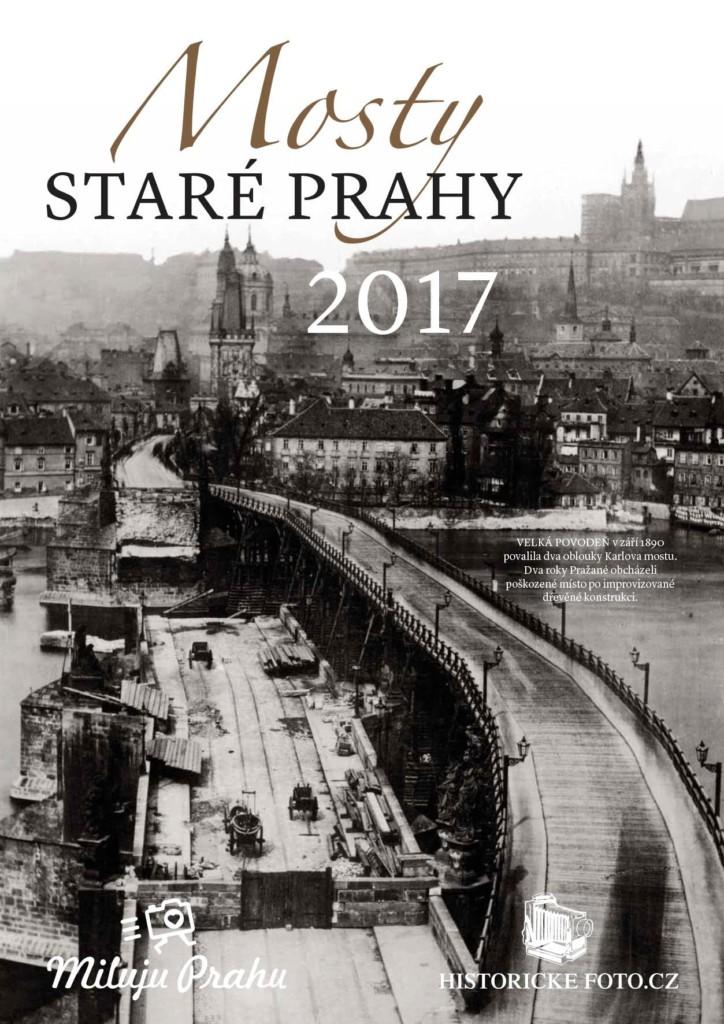 Kalendář Mosty staré Prahy k dostání na eshopu Mlluju Prahu