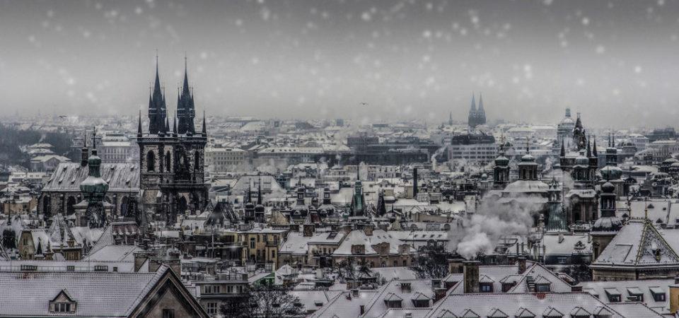 Pohled na Prahu v lednu.- Foto: Milan Bachan