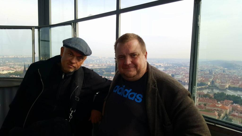 Reportér Českého rozhlasu DAB Regina Václav Müller a šéfredaktor Miluju Prahu David Černý