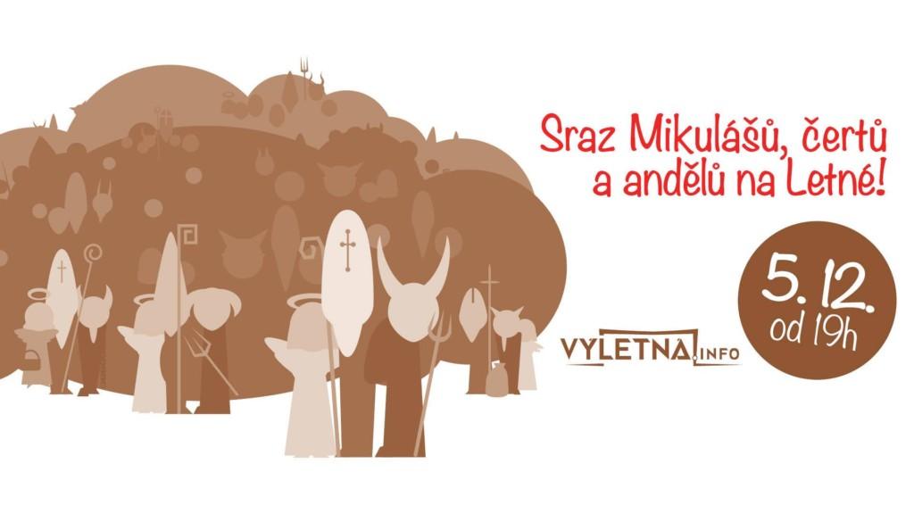 Sraz Mikulášů, čertů a andělů na Letné! - Zdroj: Facebook Výletná
