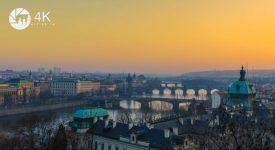 POKOCHEJTE SE! Praha na překrásném 4k videu