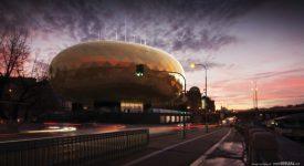 U Štefánikova mostu má vyrůst zlaté vejce pro Muchovu Slovanskou epopej. Jak se vám líbí?