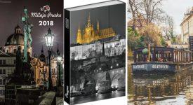 Plný koš dárků na Miluju Prahu. Kalendáře, projížďky po Vltavě, knihy, diáře, notesy. Podívejte se