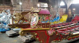 Benátské válečné lodě v Praze. Pýcha města na laguně na cestě do srdce českého království