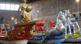 Benátské válečné lodě na cestě do Prahy. Lodě bissone poprvé okusí sladkou vodu