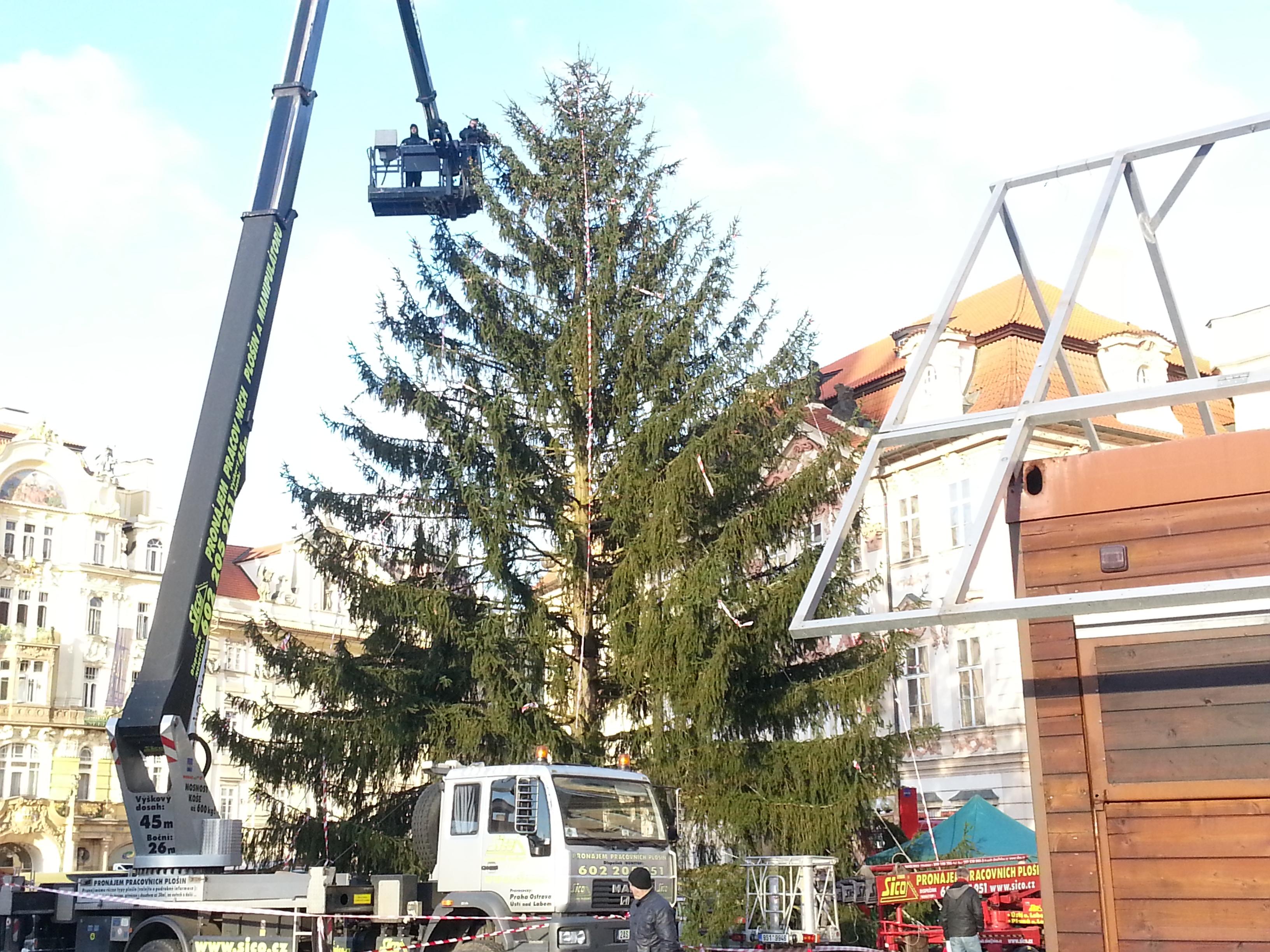 Rozsvícení vánočního stromu na Staromáku