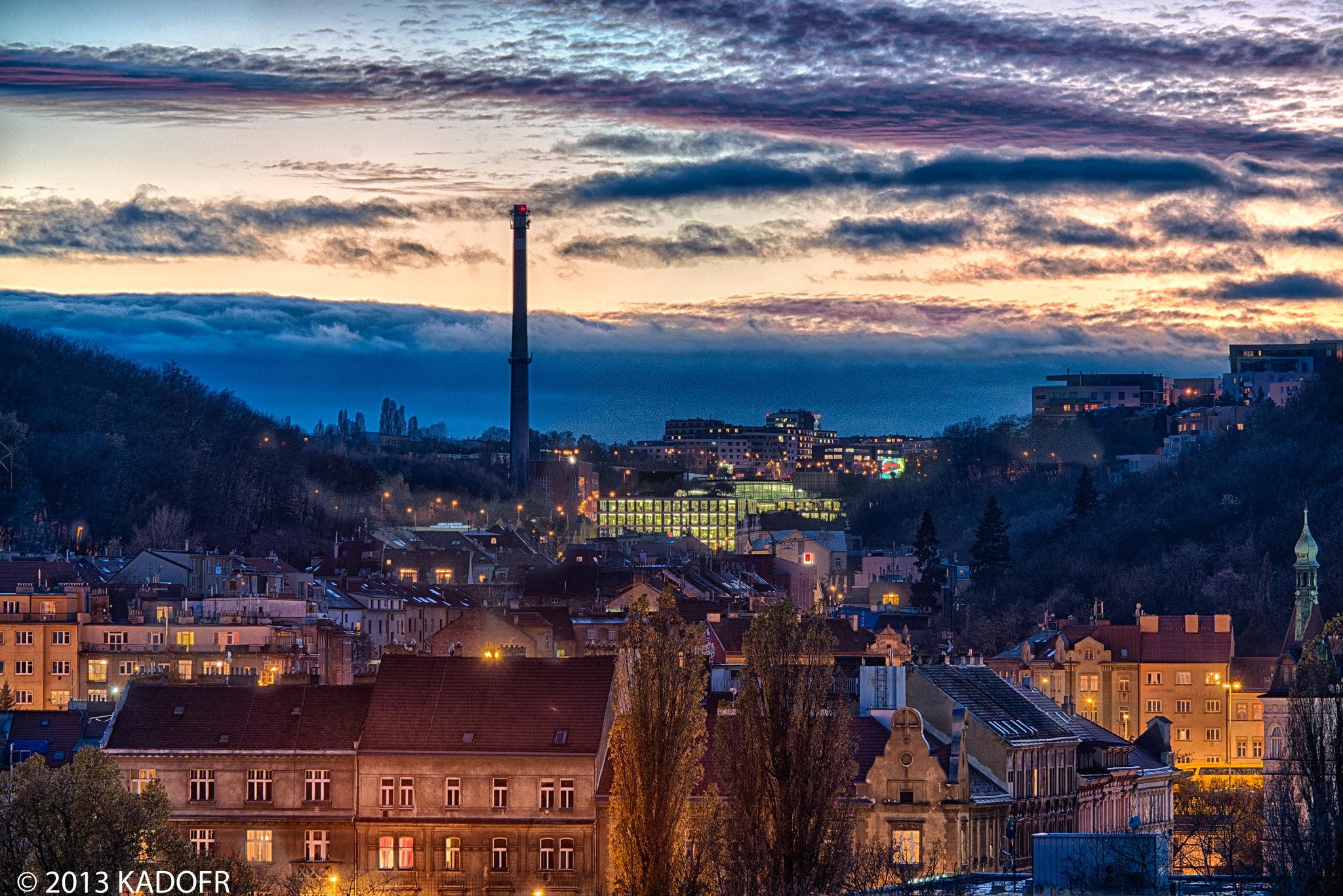 Obloha nad Prahou - Foto: Karel Dobeš