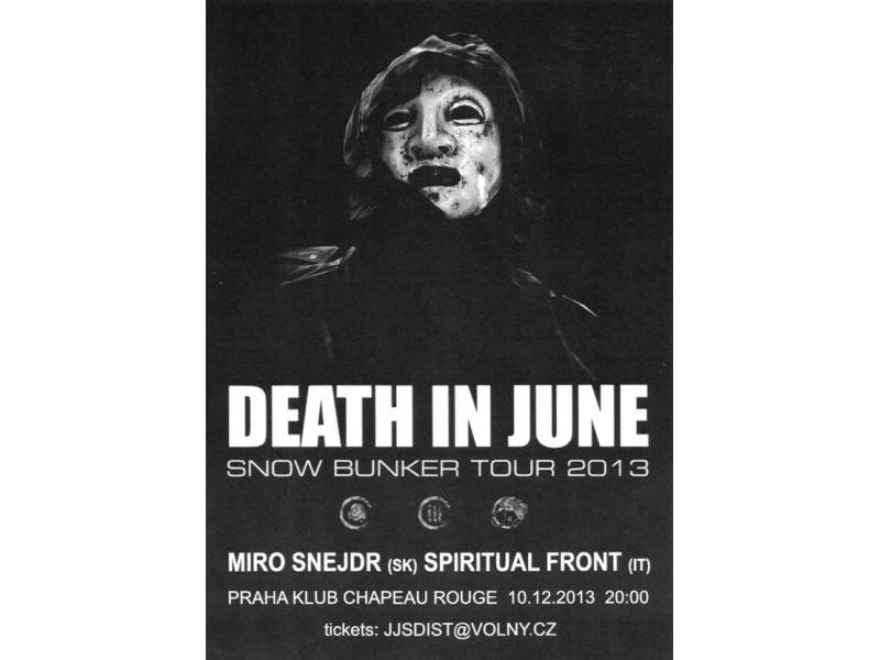 Death In June (uk) + Spiritual Front (it) + Miro Snejdr (sk)
