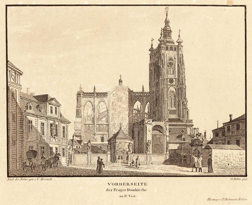 Před katedrálou stála kaple svatého Vojtěcha. Byly v ní uchovány Vojtěchovy ostatky. Po zahájení dostaby byly ostatky přeneseny