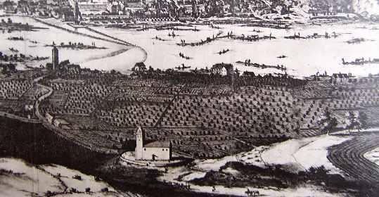 Smíchov v roce 1685