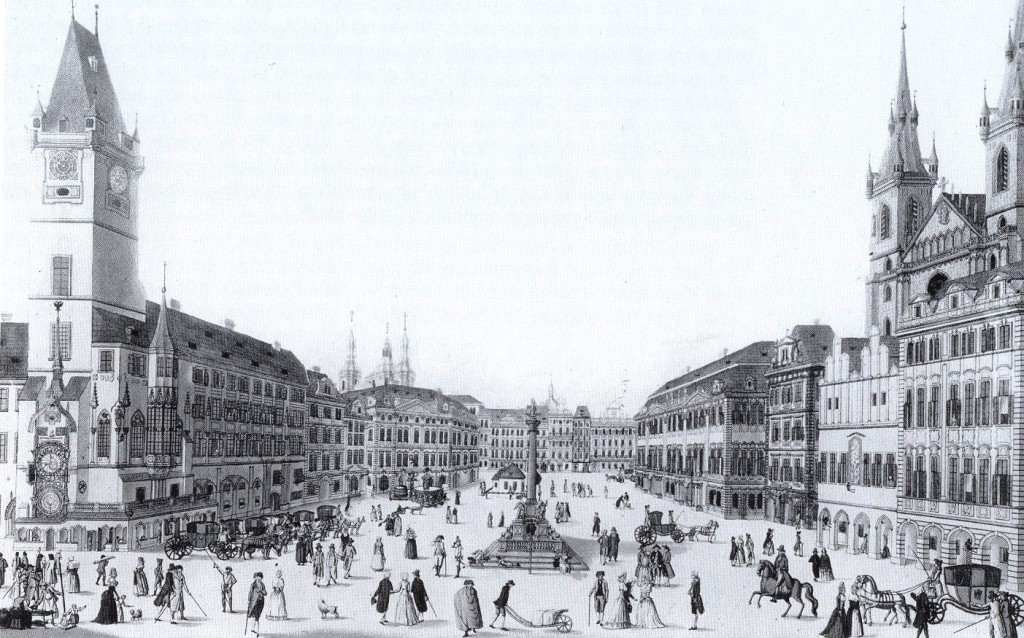 Rok 1835 - Foto vybral a popisky pořídil facebookový profil Staroměstská radnice v Praze