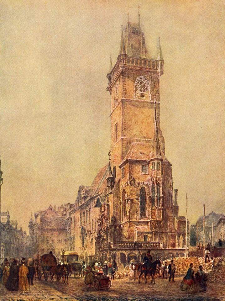 1839 - Staroměstská radnice po zbourání východního traktu v roce 1839 - Foto vybral a popisky pořídil facebookový profil Staroměstská radnice v Praze