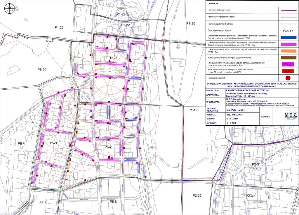 Takhle budou vypadat zony na Praze 5 - Mapa: Technická správa komunikací