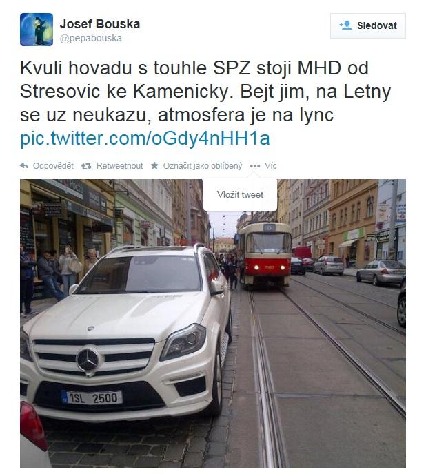 Tweet od Josefa Boušky