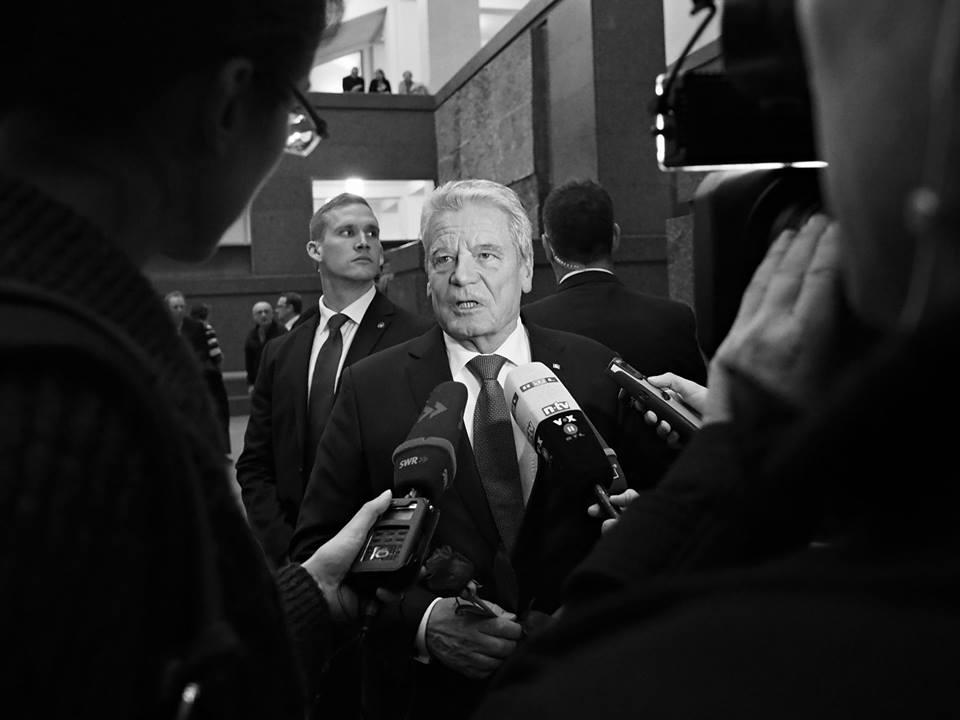 Německý president Joachim Gauck. PF UK Praha 17.XI.2014 - Foto: Eugen Kukla