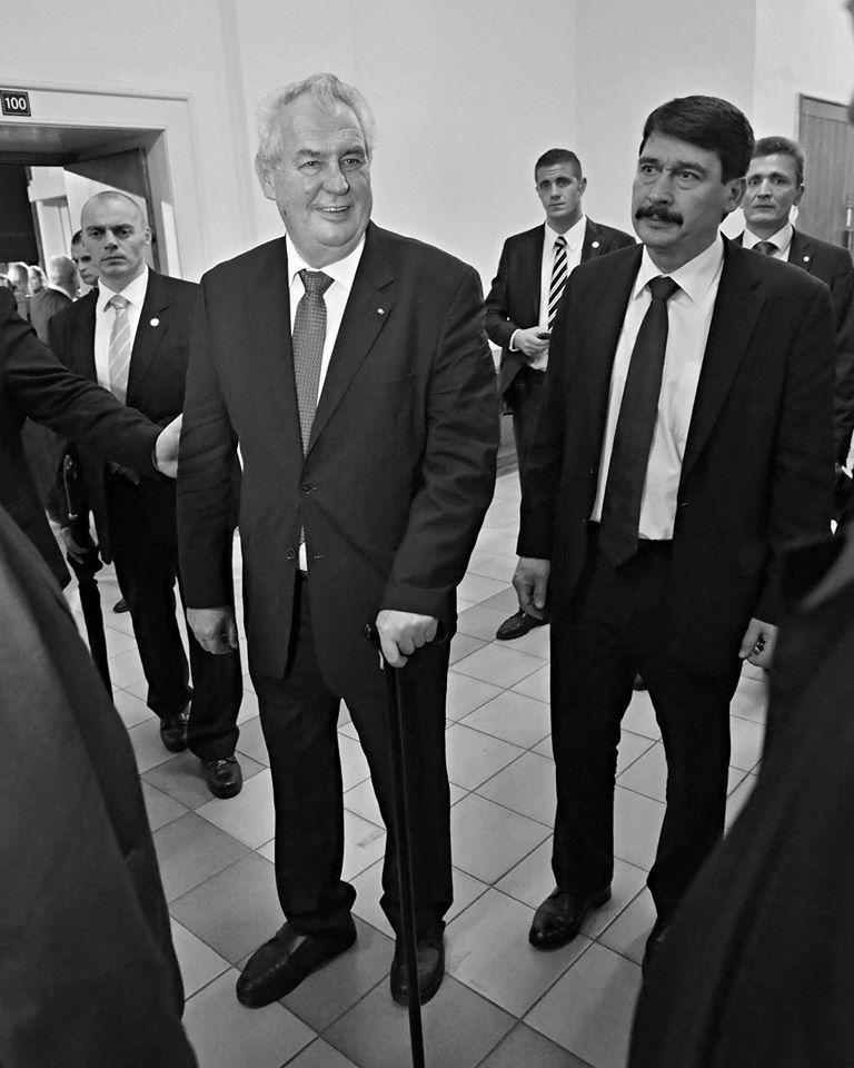 Český president se svým maďarským protějškem. PF UK, Praha 17.XI.2014 - Foto: Eugen Kukla