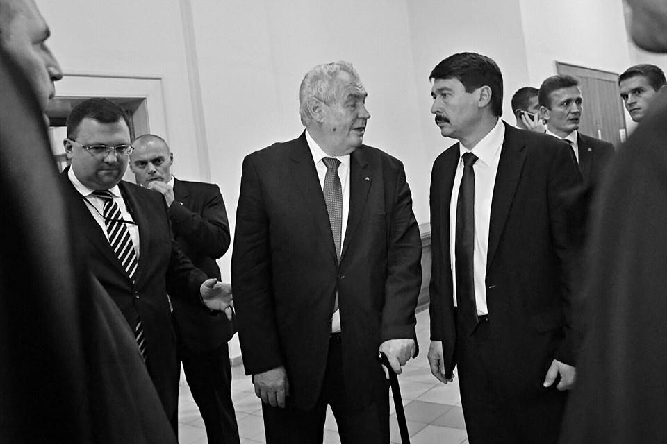 S maďarským presidentem. PF UK, Praha 17.XI.2014 - Foto: Eugen Kukla