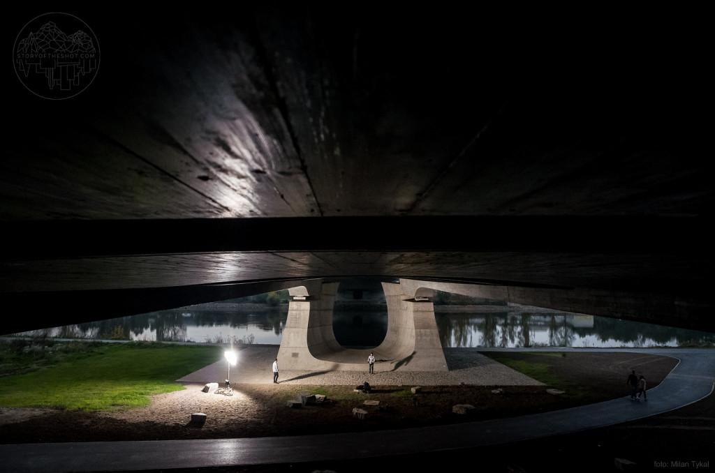 Na tomto místě by mohl stát plánovaný skatepark - Foto: Milana Tykal; Jezdec: Satan